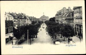 Ak Strasbourg Straßburg Elsass Bas Rhin, Broglieplatz