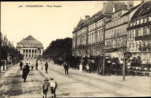 Ak Strasbourg Straßburg Elsass Bas Rhin, Place Broglie
