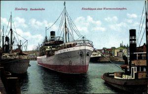 Ak Hamburg, Baakenhafen, Einschleppen eines Wermanndampfers