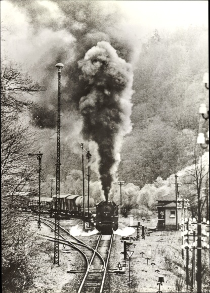 Ak Deutsche Eisenbahn, Dampflokomotive, Nahgüterzug