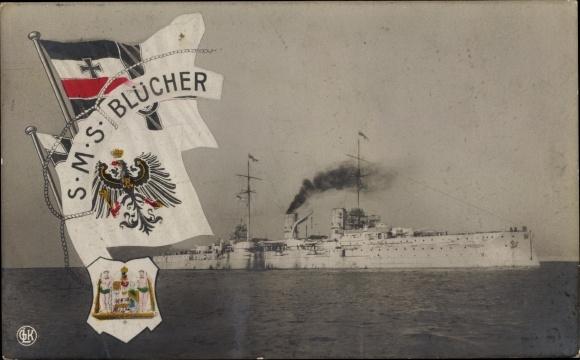 Ak Deutsches Kriegsschiff, SMS Blücher, Kaiserliche Marine