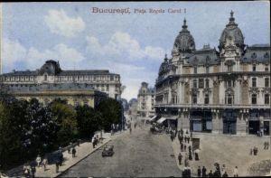 Ak București Bukarest Rumänien, Piata Regele Carol I