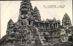Ak Kambodscha, Angkor Wat, Tour centrale, Tempelbauten