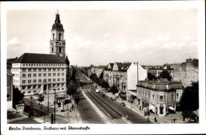 Ak Berlin Schöneberg Friedenau, Rathaus mit Rheinstraße