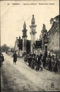 Ak Hanoi Tonkin Vietnam, Entree d'une Pagode