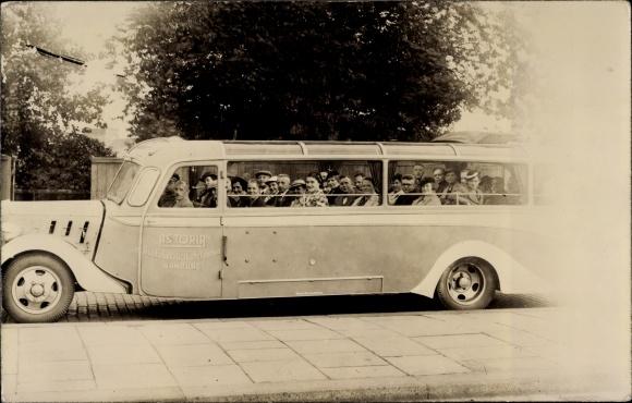 Foto Ak Hamburg, Omnibus, Astoria Stadtrundfahrten