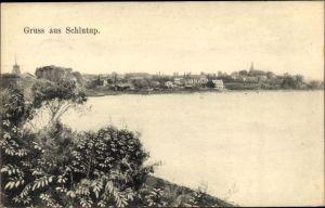 Ak Schlutup Lübeck in Schleswig Holstein, Blick auf den Ort