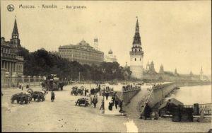 Ak Moskau Russland, Kremlin, Vue générale, Pferdewagen