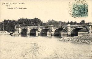 Ak Irún Irun Baskenland Spanien, Puente Internacional