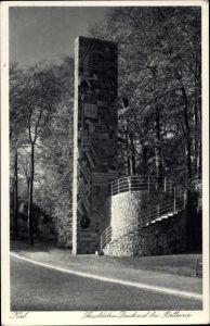 Ak Kiel in Schleswig Holstein, Seesoldaten Denkmal bei Bellevue