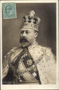 Ak Eduard VII, König von Großbritannien, Portrait