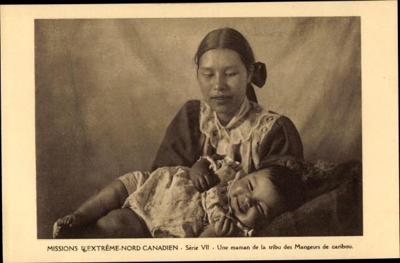 Ak Missions d'Extreme Nord Canadien, Une maman de la tribu des Mangeurs de caribou