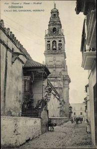 Ak Cordoba Andalusien Spanien, Calle del Cardenal Herrero, Iglesia