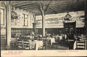 Ak Köln am Rhein, Stapelhaus, Konzertsaal