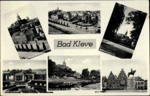 Ak Kleve am Niederrhein, Schwanenburg, Ehrenfriedhof, Kurfürstendenkmal, Kermistal