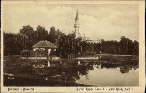 Ak București Bukarest Rumänien, Parcul Regele Carol I, König Karl I Park