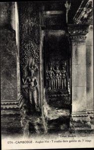 Ak Angkor Vat Kambodscha, Tevadas dans galerie