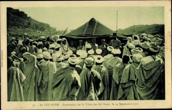 Ak Tizi R'Nim Marokko, Soumission de la Tribu des Ait Bouzi 1922