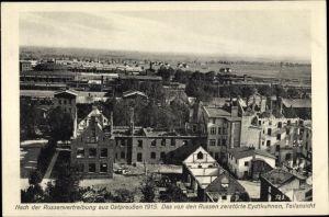 Ak Tschernyschewskoje EydtkauEydtkuhnen Ostpreußen, Teilansicht 1915, Kriegszerstörungen, I. WK