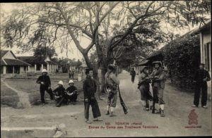 Ak Hanoi Tonkin Vietnam, Entree du Camp des Tirailleurs Tonkinois