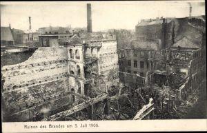 Ak Hamburg Mitte Altstadt, Ruinen des Brandes am 03.07.1906