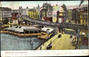Ak Berlin Mitte, Jannowitzbrücke, Dampferstation