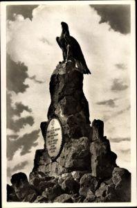 Ak Gersfeld in der Rhön in Hessen, Fliegerdenkmal auf der Wasserkuppe