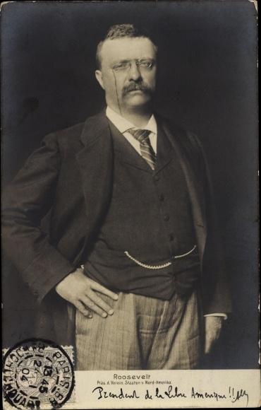 Ak Theodore Roosevelt, US Präsident