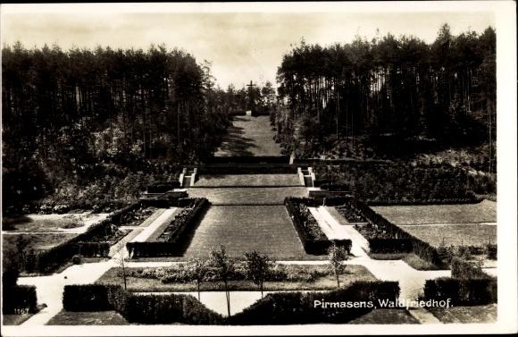 Ak Pirmasens am Pfälzerwald, Waldfriedhof