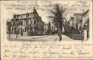 Ak Sowjetsk Tilsit Ostpreußen, Straßenpartie