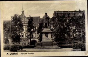 Ak Mönchengladbach Nordrhein Westfalen, Bismarck Denkmal