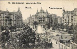 Ak Berlin Schöneberg, Viktoria Luise Platz, Motzstraße, Regensburgerstraße
