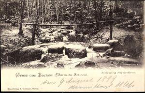 Ak Buckow in der Märkischen Schweiz, Poetensteig, Sophienfliess