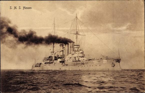 Ak Deutsches Kriegsschiff, SMS Hessen, Kaiserliche Marine