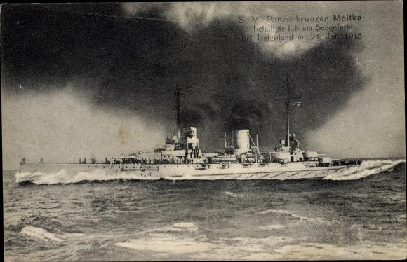 Ak Deutsches Kriegsschiff, SMS Panzerkreuzer Moltke, Kaiserliche Marine