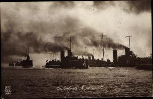Ak Deutsche Kriegsschiffe, auslaufende Torpedoboote