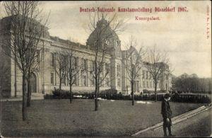 Ak Düsseldorf am Rhein, Deutsch Nationale Kunstausstellung 1907, Kunstpalast