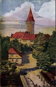 Künstler Ak Opole Oppeln Schlesien, Piasten  Schloss, Abstimmungsgebiet Oberschlesien