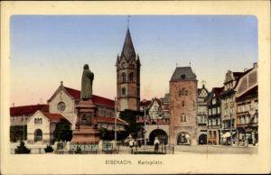 Ak Lutherstadt Eisenach in Thüringen, Karlsplatz, Luther Denkmal