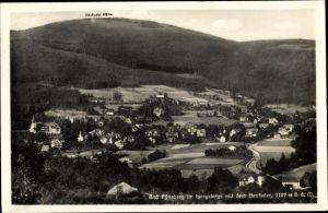 Ak Świeradów Zdrój Bad Flinsberg Schlesien, Panorama vom Ort und Heufuder