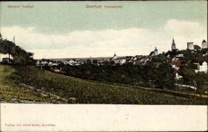 Ak Querfurt im Saalekreis, Bahnhof Thaldorf, Totalansicht des Dorfes