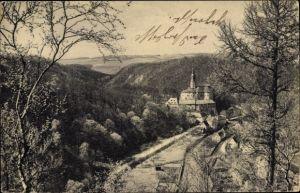 Ak Weesenstein Müglitztal Sachsen, Schloss Weesenstein mit Finkenfang und Maren