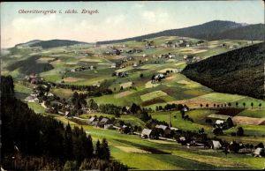 Ak Oberrittersgrün Breitenbrunn im Erzgebirge, Panorama