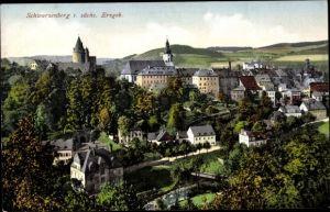 Ak Schwarzenberg im Erzgebirge Sachsen, Teilansicht des Ortes