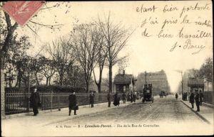 Ak Levallois Perret Hauts de Seine, Fin de la Rue de Courcelles