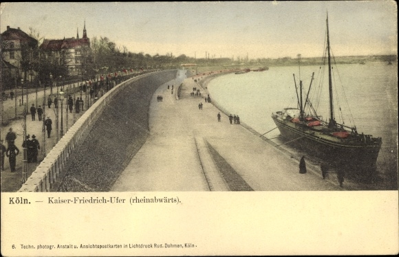 Ak Köln am Rhein, Kaiser Friedrich Ufer