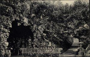 Ak Aue im Erzgebirge Sachsen, König Albert Grotte im Stadtpark