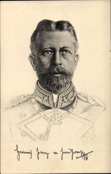 Künstler Ak Großadmiral Prinz Albert Wilhelm Heinrich von Preußen, Stengel 49124