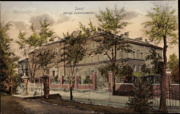 Ak Soest in Nordrhein Westfalen, Blick auf Königliches Lehrerseminar