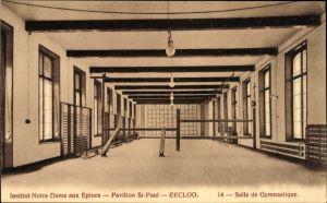 Ak Eeklo Ostflandern, Institut Notre Dame aux Epines, Pavillon St. Paul, Salle de Gymnastique